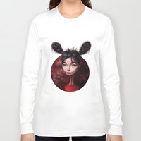 bjork Long Sleeve T-shirts featuring Caricature for a Bjork by Alexander Novoseltsev