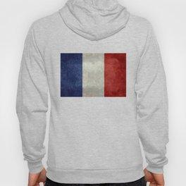 Flag of France, vintage retro style Hoody