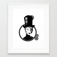 top gear Framed Art Prints featuring Gear Girl by DespairLegion