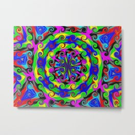 Sea of Acidic Psychedelic Anya Metal Print