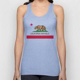 California Republic Flag, High Quality Image Unisex Tank Top