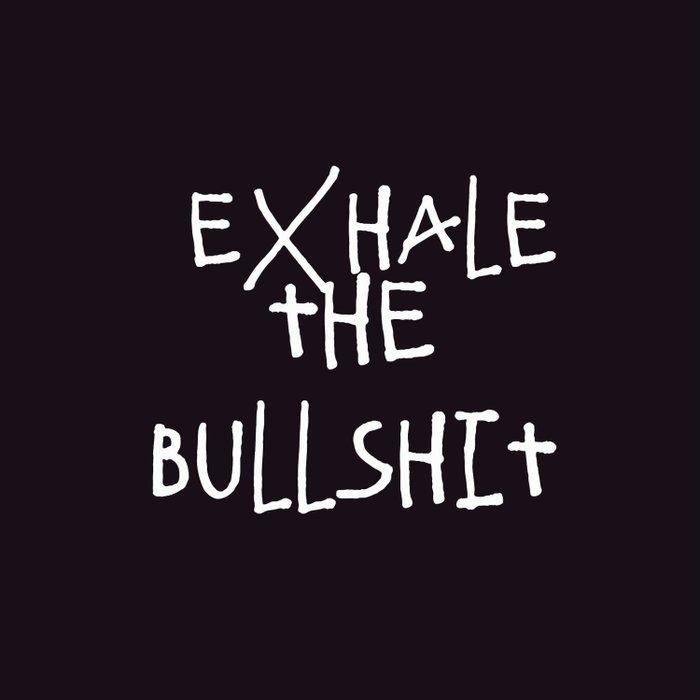 exhale bullshit quotes aesthetic teen relax duvet cover
