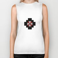 resident evil Biker Tanks featuring Resident Evil Umbrella Corporation  by DavinciArt