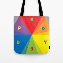Color wheel by Dennis Weber / Shreddy Studio with special clock version Tote Bag