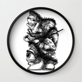 Graphic face Wall Clock