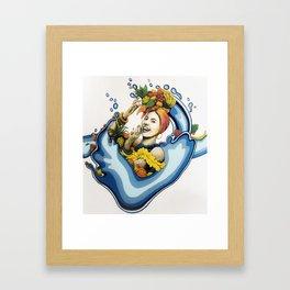 Refresh Food Co Mural, Gainesville FL Framed Art Print