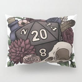 Necromancer D20 Tabletop RPG Gaming Dice Pillow Sham
