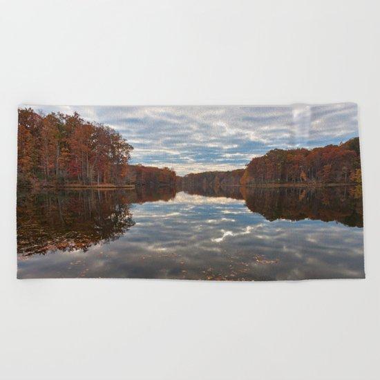 Seneca Fall Reflections Beach Towel