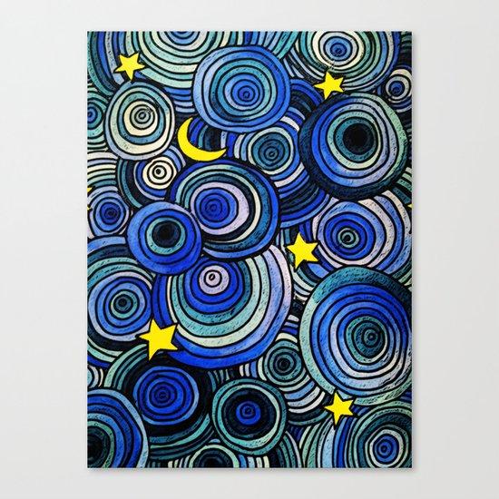 Watery Night Canvas Print