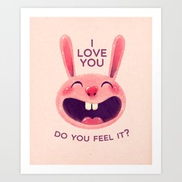 Bunny with love Art Print