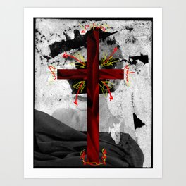VELVET CHURCH Art Print