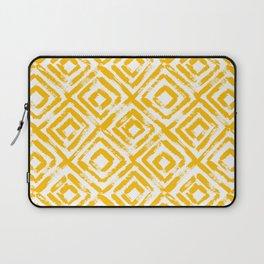 Amber Yellow Geometric Print Laptop Sleeve