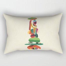Totem - balanced pebbles Rectangular Pillow