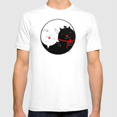 Yin Yang Mens Fitted Tee SMALL White