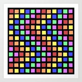 ROYGBV Tiles at Play Art Print