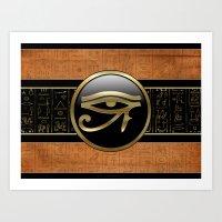 egypt Art Prints featuring Egypt by Brigitta