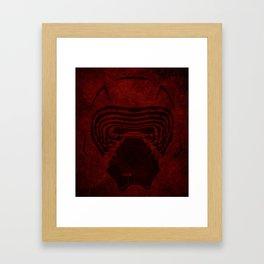 KYLO REN HELMET Framed Art Print
