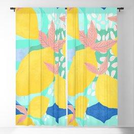 Pink Lemonade - Shapes and Layers no.32 Blackout Curtain