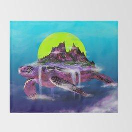 Turtle Paradise Throw Blanket