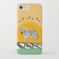 zebra iPhone & iPod Cases featuring Zebra by Nir P