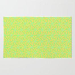 Patterns: Orange Green Flowers Rug