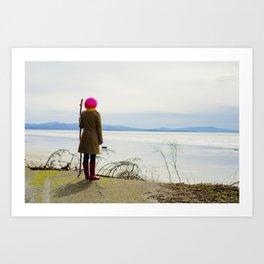 Coastal Gaze Art Print