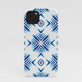 Shibori Blue Watercolour No.15 iPhone Case