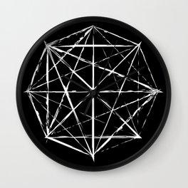 Octagon Diagonals Wall Clock