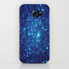 Vivid Blue gALaxY Stars Slim Case Galaxy S6