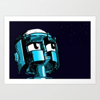 Robot Youth Art Print