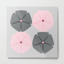 Rose et Gris Metal Print