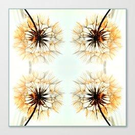 dandelions mosaic Canvas Print