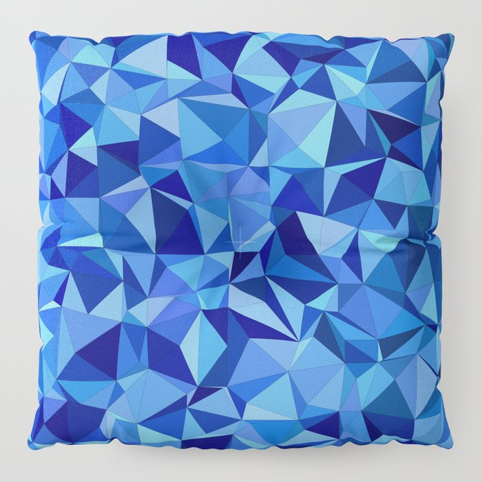 Blue tile mosaic Floor Pillow