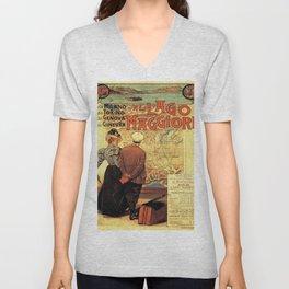 Vintage poster - Lago Maggiore Unisex V-Neck
