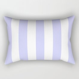 Periwinkle blue - solid color - white vertical lines pattern Rectangular Pillow