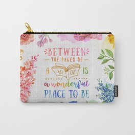 Between the pages Carry-All Pouch