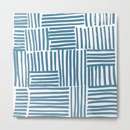 Blue stripes Metal Print