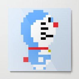 Doraemon Pixel Metal Print