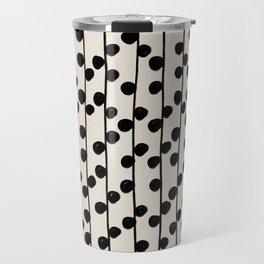 Dots / Black & White Pattern Travel Mug