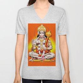 Hindu - Hanuman 2 Unisex V-Neck