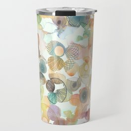 Watercolour spirographs Travel Mug