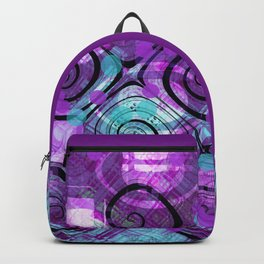 Purple Plaid Twisted Mess Backpack