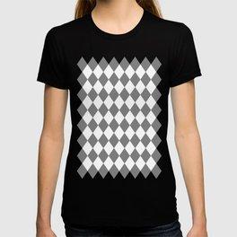 Diamonds (Gray/White) T-shirt