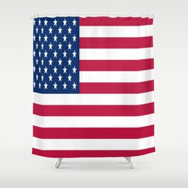 Flag of USA - American flag, flag of america, america, the stars and stripes,us, united states Shower Curtain