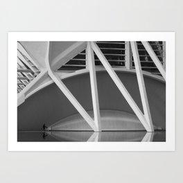 City of Arts and Sciences III by CALATRAVA architect Art Print