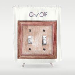 Switch Plate Shower Curtain