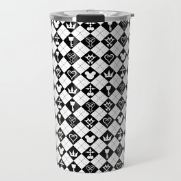 Kingdom Hearts Logos BG Travel Mug