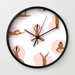 Naked party Wall Clock