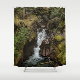 Avalanche Gorge - Glacier NP Shower Curtain
