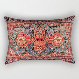 Kashan Poshti Central Persian Rug Print Rectangular Pillow